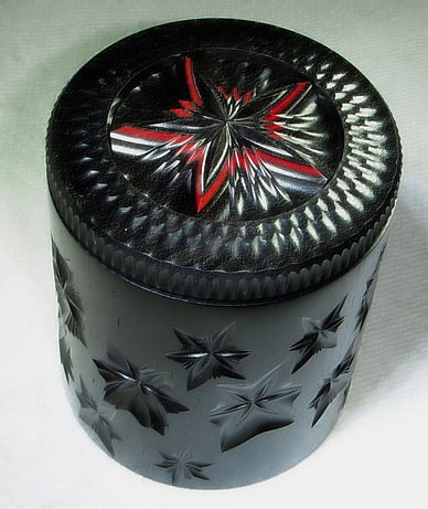 Starie Box: African Blackwood & Pink Ivory Wood. Made on the Rose Engine Lathe