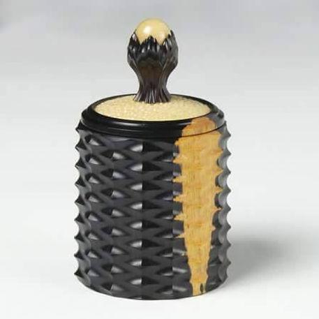 Blackwood, Shagreen & Tagua Nut Box Turned on the Holtzapffel Lathe