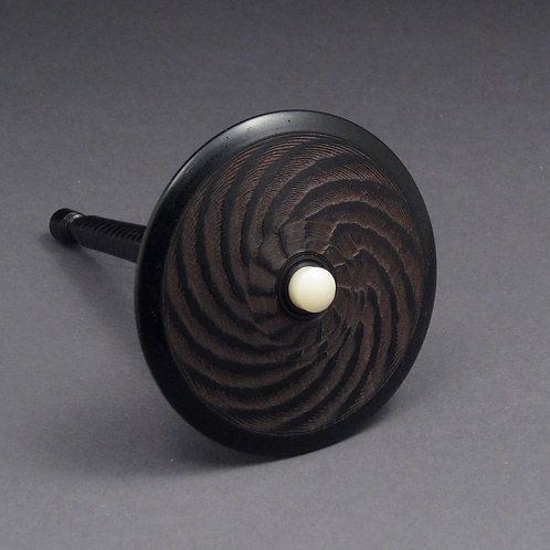 African Blackwood & Tagua Nut Spin Top