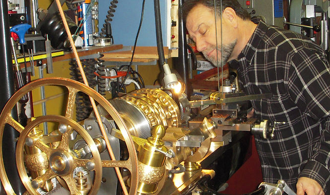 Holtzapffel Rose engine, Guilloche Machine, Jon Sauer, Lathe