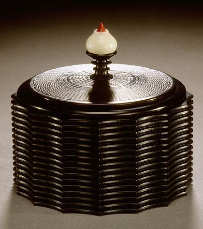 Blackwood Engine Turned & Index Carved Box on the Holtzapffel Lathe