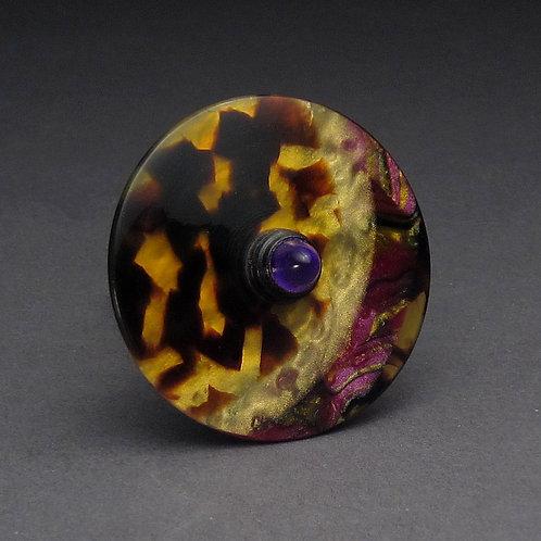 Acetate, Purple Acrylic & Blackwood Spin Top