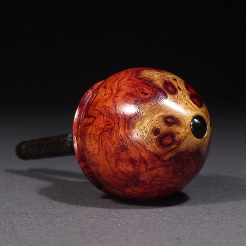 Amboyna Burl Wood (with a touch of sapwood) Spin Top