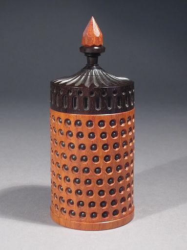 Dot Box: Pernambucco, Partridge Wood & African Blackwood