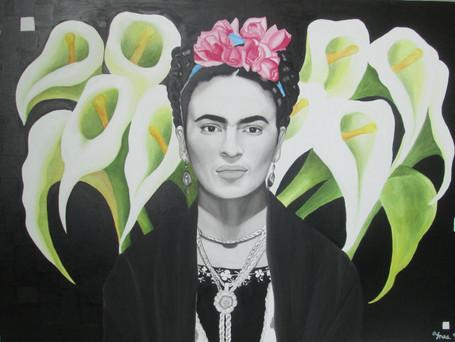 """VENDIDO. """"Frida Kahlo III"""", Acrílico sobre Lienzo."""