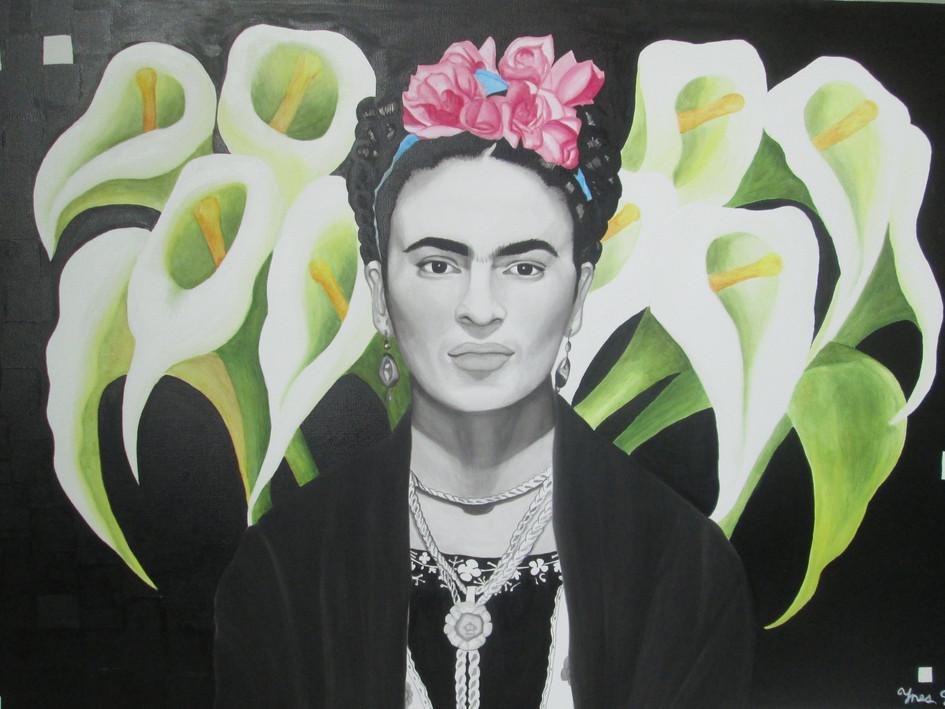 "SOLD. ""Frida Kahlo III"", Acrylic on Canvas."