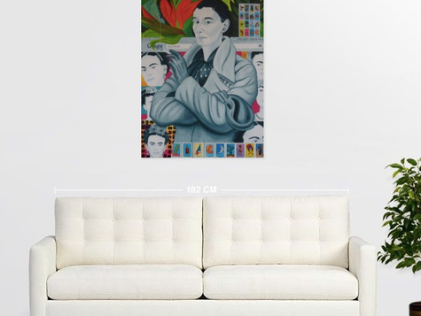 SOLD. Live Preview - Rita Angus and Frida Kahlo in Mexico