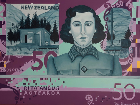"""Available for Sale. """"Rita Angus $50 Note"""""""