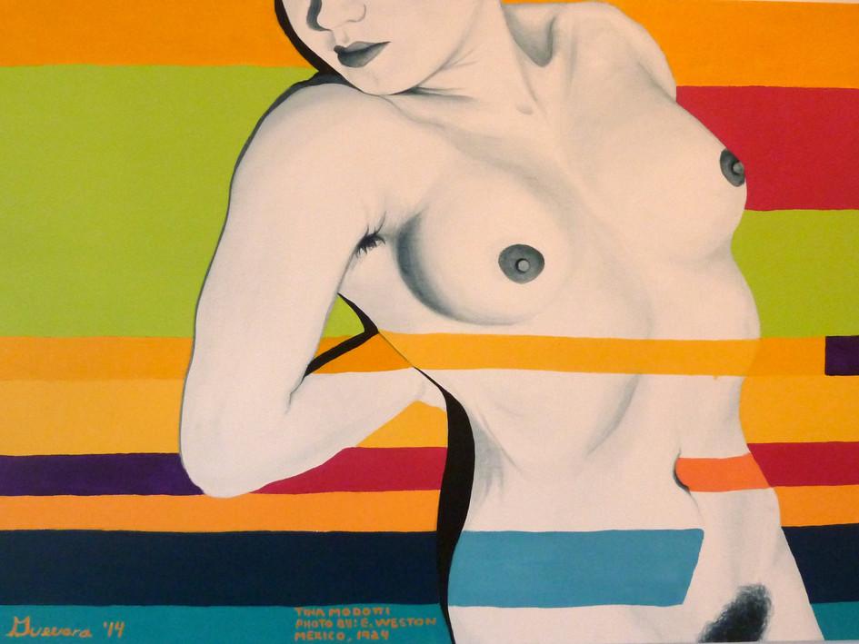 "SOLD. ""Tribute to Edward Weston - Tina Modotti 1924 Mexico"", Acrylic on Canvas."