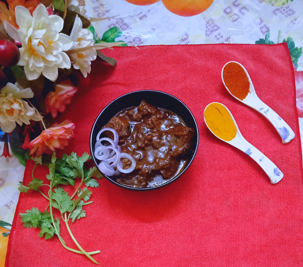 "Mutton Pasanda is a popular meat dish from the Indian subcontinent. This meal served in the court of the Mughal emperors. This recipe is a wonderful example of the composite Hindu–Muslim recipe. The word is an Urdu word ""pasande"" meaning ""favourite"", it's my favourite too. So enjoy this recipe with your family & friends!!!"