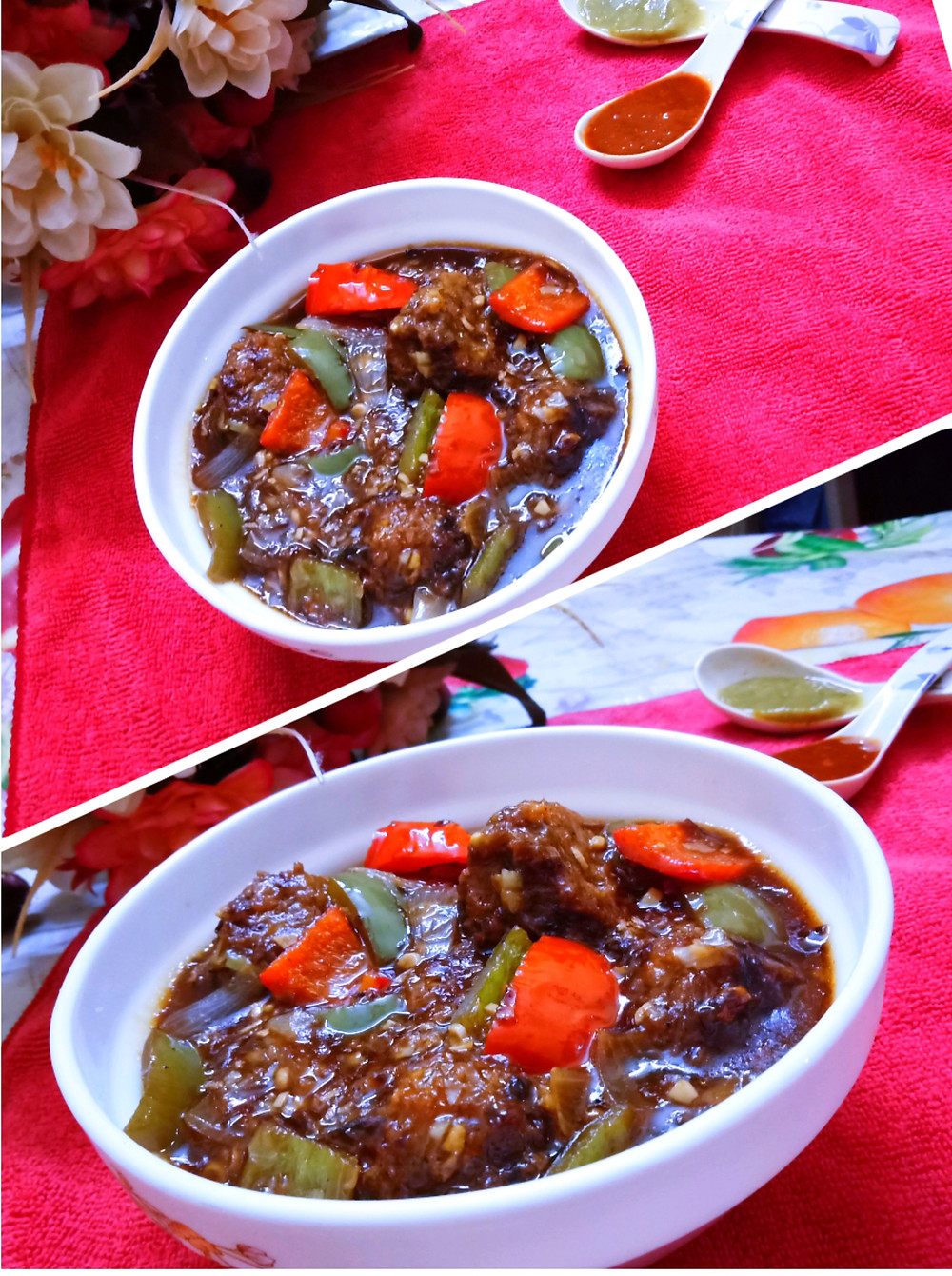 Gobi Manchurian or Veg Manchurian is an Chinese Indian fried cauliflower dish. Gobi Manchurian is the result of the adaptation of Chinese cooking and seasoning techniques to suit Indian tastes and has become a staple of Indian Chinese cuisine. The word Manchurian means native or inhabitant of Manchuria. There are two different variants of gobi Manchurian, dry and with gravy. Both variants are prepared by using common ingredients.