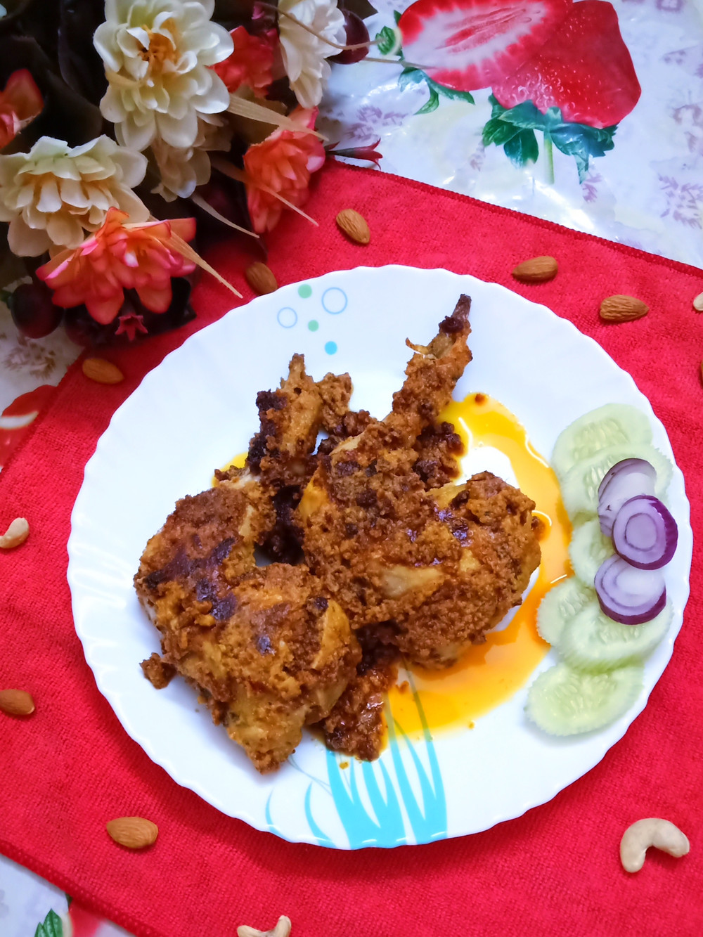 Traditionally a Mughlai dish, the Chicken Chaap would almost always need a full leg of chicken, which would include the thigh as well. Of course some place cut cost and use only the drumstick piece.