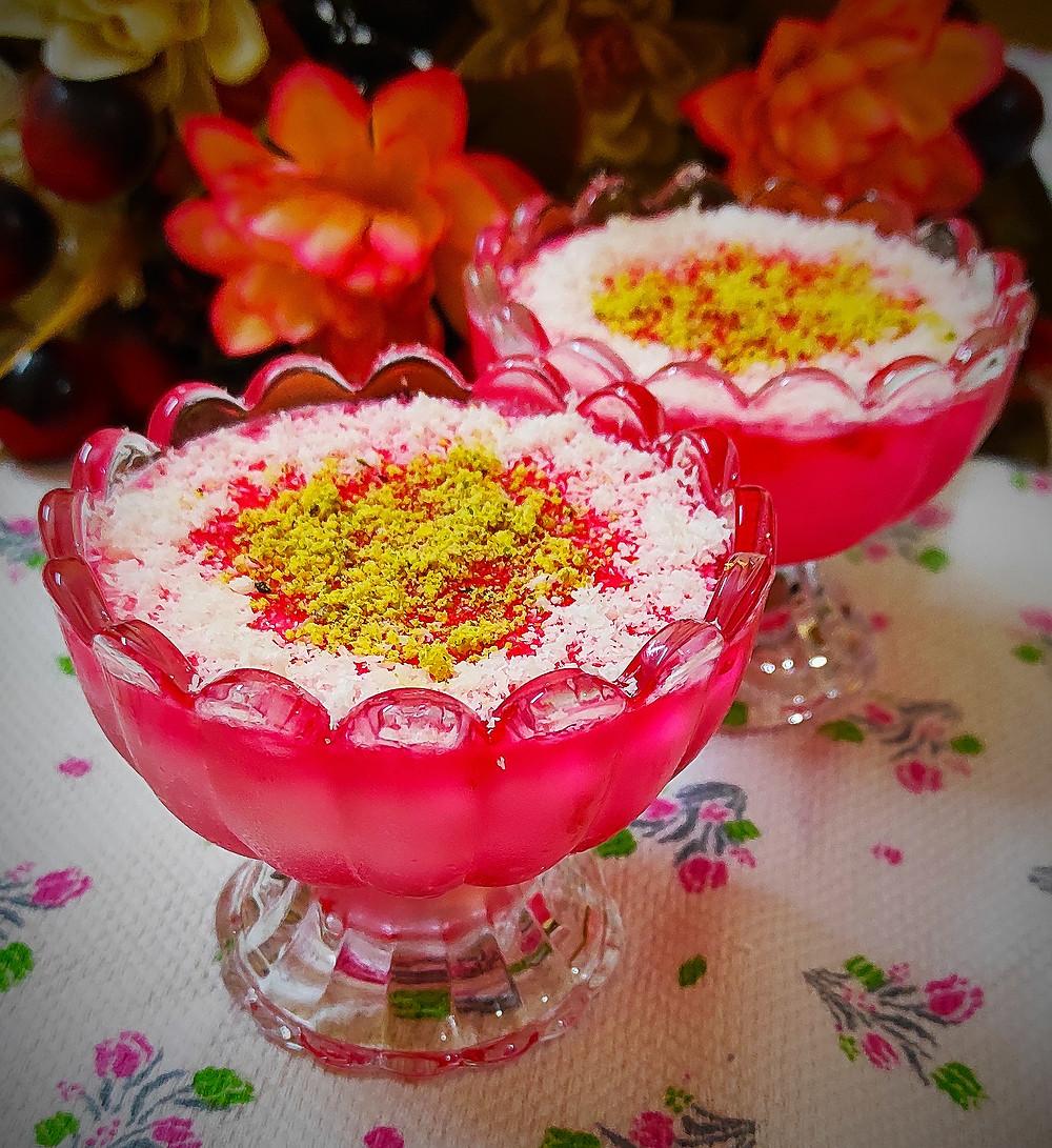 Mahalabia Recipe   Arabic Dessert Recipe   Easy Milk Pudding   Muhalabia Middle Eastern Milk Pudding by Recipeuwish