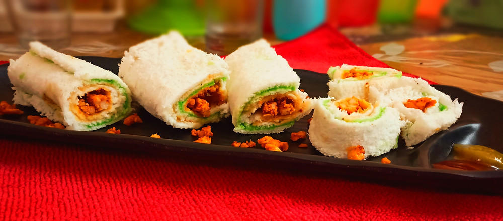 Bread Chicken Mayo Swiss Roll Recipe | by Sandipta's Cookery