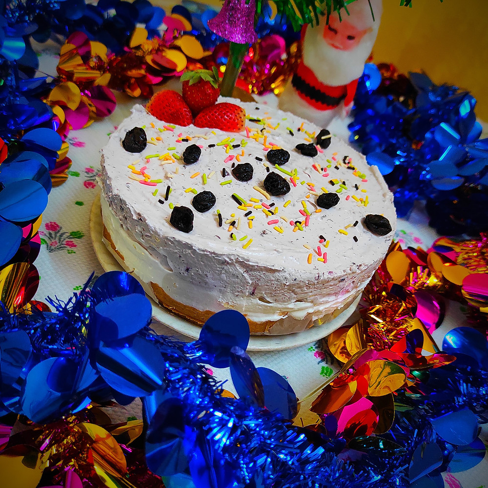 Cream Cheese Blueberry Cake | Creamy Cheesy Blueberry Cake | Recipeuwish | by Sandipta's Cookery