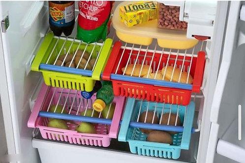 AD'S 4 Pc Expandable Adjustable Fridge Storage Basket
