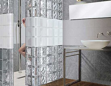 glass block wall designs bathroom ideas 1jpg - Bathroom Designs Using Glass Blocks