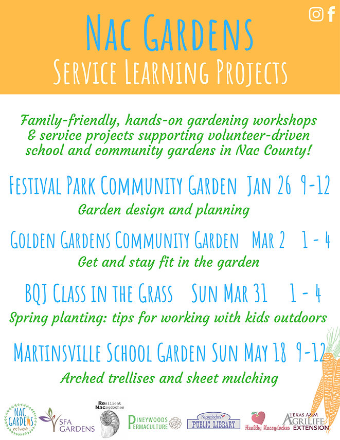 Spring 2019 Nac Gardens Service Learning