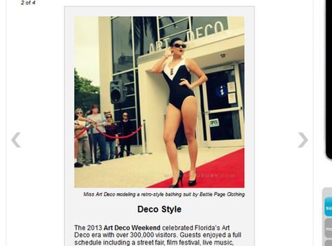 Third Annual Art Deco Weekend Fashion Show