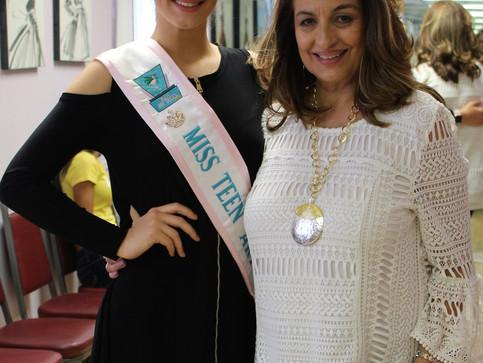 Miss Teen Art Deco visits Alicia Faccio Modeling School