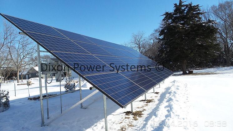 solar system and wind turbine in Nebraska