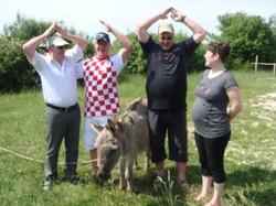 Die K<egelfreunde in Istrien...