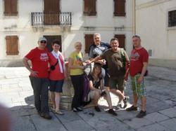 Gruppenfoto in Monastier...