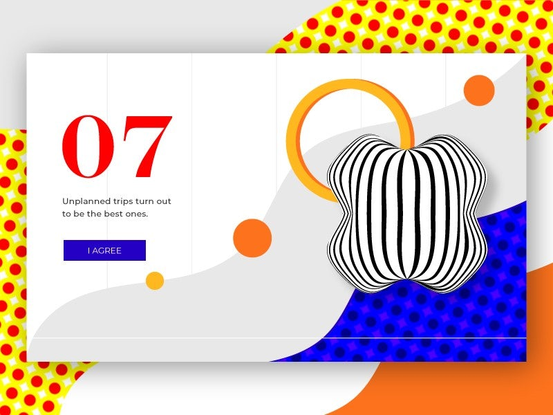 An organic, abstract geometric illustration for a web page by Vuk N. via 99designs.com