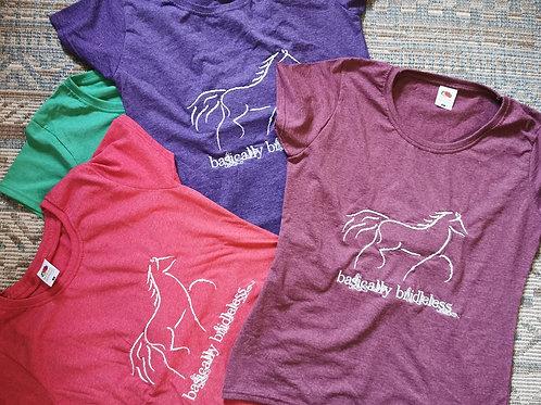 'Basically Bridleless' T-shirt