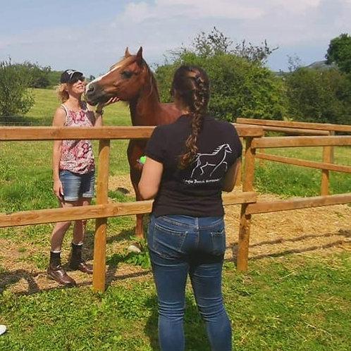 Vintage 'Sadie Beech Horsemanship' short sleeve polos
