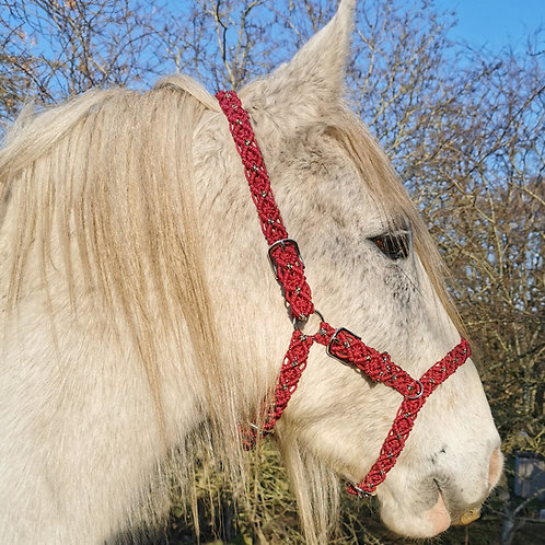 Fully Braided 'Shield' Braid Sidepull Bitless Bridle