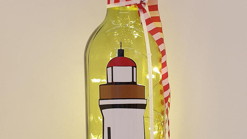 """Lichterflasche """"Leuchtturm"""""""