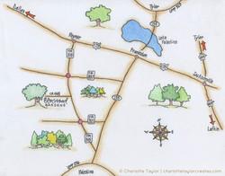 Map to Elmwood Gardens