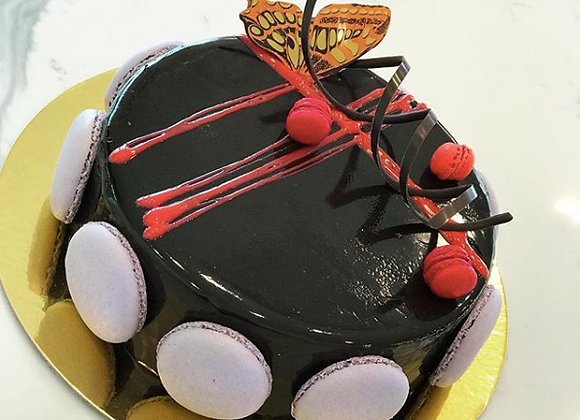 Chocolate -Cassis Mousse Cake