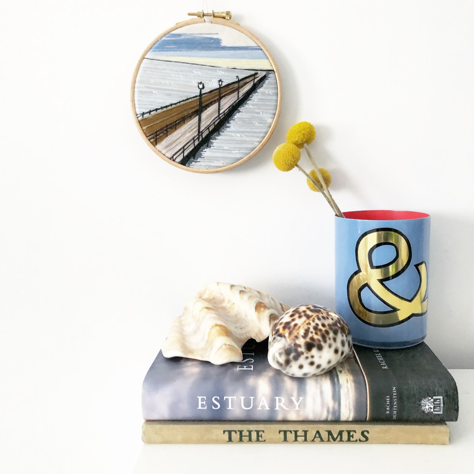 Southend pier embroidery by Lauren Stranks