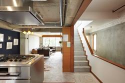 【新規】2階リビングダイニングキッチン・階段室