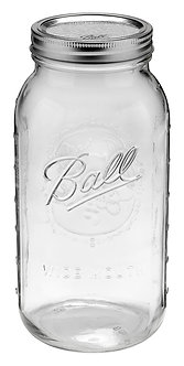 Ball Jar 64oz Wide Mouth Half Gallon (6/cs)