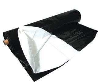 Black & White Poly, 100'x10', 5.5 mil
