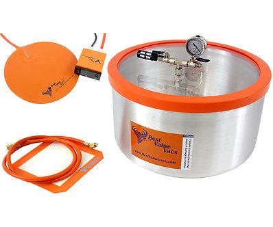 7 Gallon Vacuum Degassing Chamber with Heat Pad