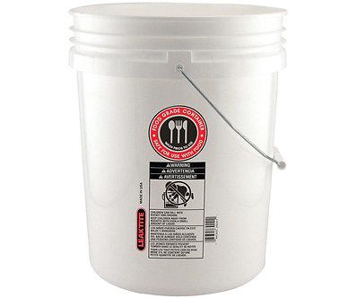 5 Gallon White Foodsafe Bucket