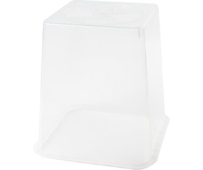 """8"""" Clear Vented Top (2000/Plt)"""