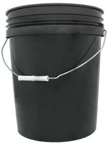 5 Gallon Black Bucket