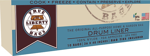 """55 Gallon Drum Liners 36"""" x 48"""" - 10 Pack"""
