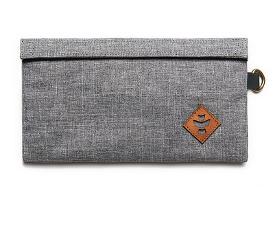 Confidant - Crosshatch Grey, Money Bag