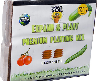 Expand & Plant Premium Coir Sheet, pack of 8 (4/cs