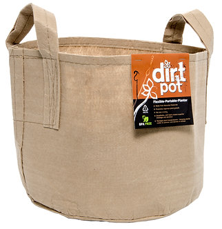 Dirt Pot Tan 5 Gal w/Handle (10/pk) (80/cs)