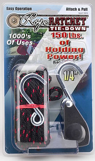 "1/4"" Rope Ratchet with 8' Heavy Duty Nylon Rope"