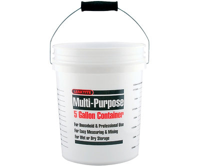 5 Gallon White Measuring Bucket