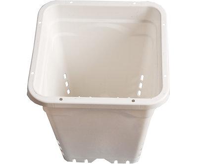 """12""""x12"""" Square White Pot, 12"""" Tall, 24 per case"""