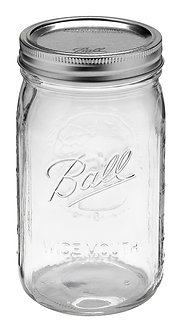 Ball Jar 32oz Wide Mouth Quart (12/cs)